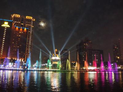 2020年1月 新年明けの台湾4 高雄愛河 ライトアップと噴水ショー