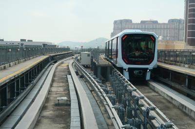 新春日帰りマカオ2★マカオ観光がさらに便利に!去年末に開通したばかりのマカオライトレール(Macau LRT)に乗る!