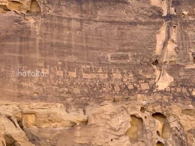 サウジアラビアの旅6・ソロモン王のカーペット岩絵とアルウラキャニオン