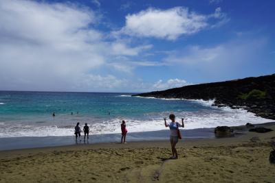 ハワイ島ハネムーン⑤ グリーンサンドビーチ②