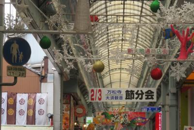 2020新年、大須巡り(4/5):1月16日(4):大須万松寺、大須商店街、フラリエ庭園、サザンカ、カルガモ