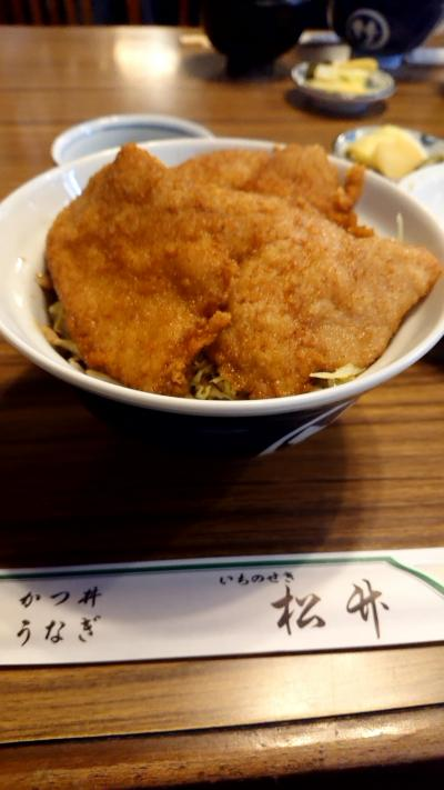 岩手県一関市の一関駅前のレストランで昼食「松竹」