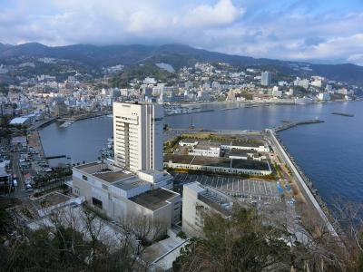 あたみ桜が咲く、早春の熱海温泉へ (1日目)糸川遊歩道のあたみ桜、熱海城