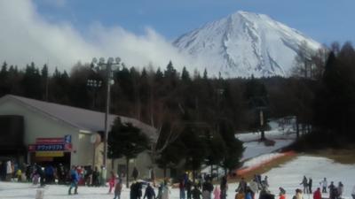 今年の雪は少ないけれど日帰りでスキーに行くぞ~⛷ー富士天神山スキー場ー