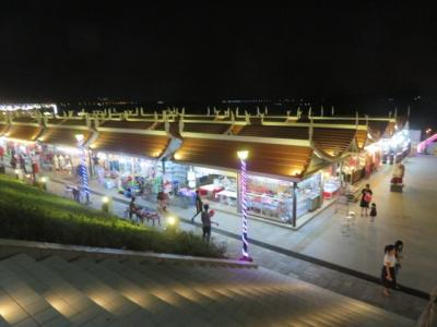 ラオス 「行った所・見た所」 ビエンチャンのナイトマーケット見物と夕食