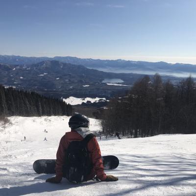 今シーズンは雪が無い(T_T)妙高杉ノ原スキー場でスノーボード☆