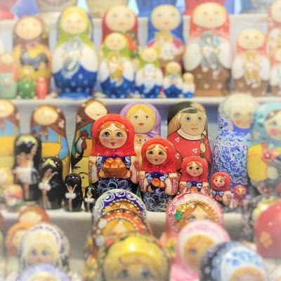 【3】自分で塗るタイプのマトリョーシカを買う☆ロシア:モスクワ8日間