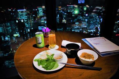 コンラッド大阪 エグゼクティブコーナールームに宿泊☆後編(夜も朝も素晴らしい眺め♪クラブルームで食事♪)
