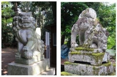 諸国神社参り 山陰山陽9ー出雲その7、おしりをあげた狛犬の謎