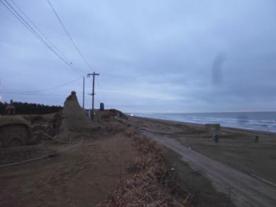 能登の千里浜から輪島へ