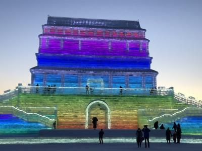 極寒ハルビン 春節の氷雪代世界・雪彫刻芸術博覧会 5日間 3日目