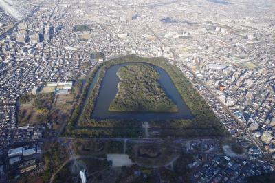 2020年1月13日後半 冬季一時帰国 世界遺産百舌鳥・古市古墳群を空から見ちゃうぞ編