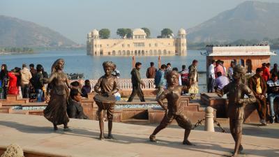 ★年末年始の初インド一人旅★DAY3後編【ジャイプール】水の宮殿ジャルハマル⇒ジョーハリーバザールでお買い物