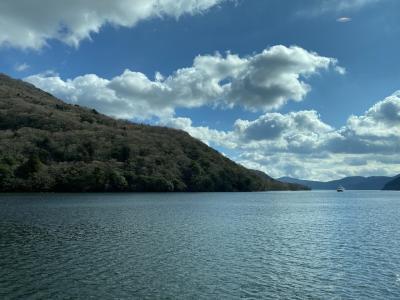 箱根温泉旅行2日目 ロープウェイと芦ノ湖遊覧船「特別船室」