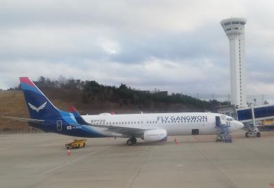 플라이강원FLY GANGWONに搭乗(ヤンヤン→済州)