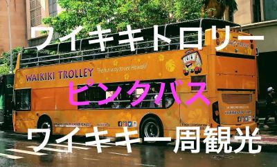 初めてのハワイ・・トロリー、ピンクバスに乗ってワイキキを一周