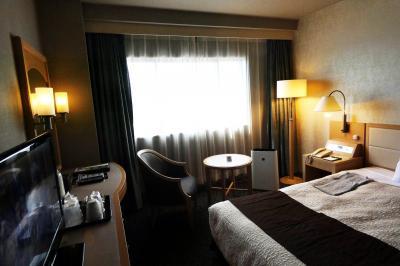 沼津で過ごす週末 沼津リバーサイドホテル ベイビュー シングルルーム 禁煙室 1月最後の夕陽のショー