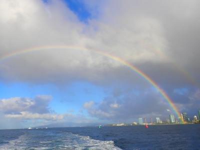 ワイキキ沖でダイビングとオアフ島観光