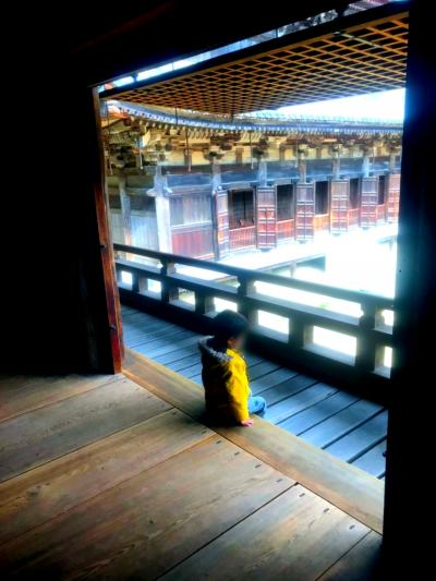 真冬の姫路。女4人+オチビちゃん。書写山、静寂の圓教寺編。