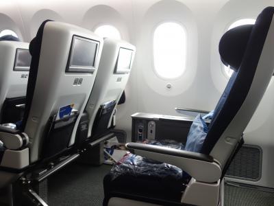 Boeing 787-9 に乗りました。NRT-LHR BA6/JL7081 12:35発。British Airwaysです。