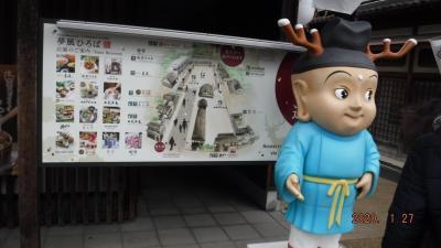 若草山山焼きのついで?に東大寺の大仏さんにご挨拶~1月25日も、中国人観光客多し***