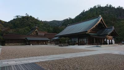 3泊4日 倉敷・島根 (10-9) しんと冷えた、静寂で厳かな朝の出雲大社
