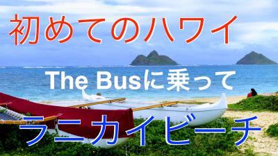 初めてのハワイ・・The Busに乗って、カイルア、ラニカイビーチへ