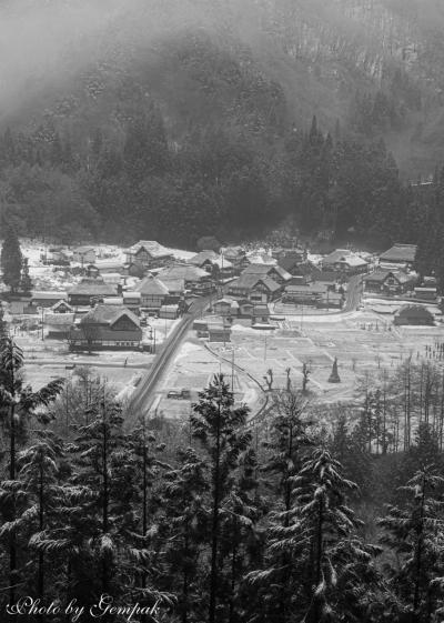 毎年恒例、豪雪の温泉地で雪見風呂のはずが・・・冬とは思えない風景
