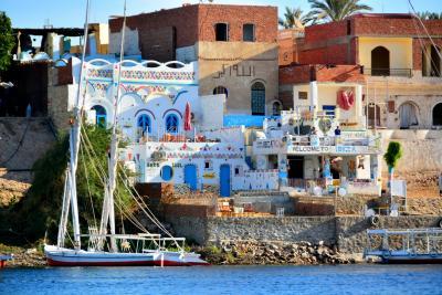 """神秘と歴史の国エジプトVol.4 イスラムとアフリカが融合した街""""アスワン""""のパステル可愛い村へ"""
