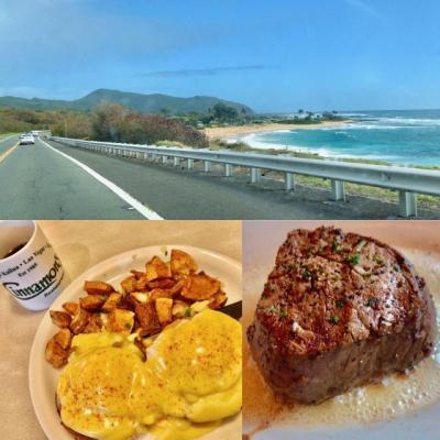 うるるんハワイ滞在記2020/1★5日目★オアフ島東海岸をドライブして『シナモンズ』でランチ。最終日ディナーは『ルースズクリス』でステーキ♪