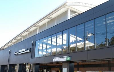 新しい駅、羽沢横浜国大駅。