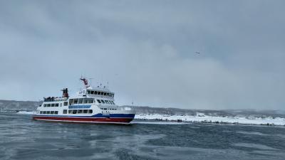 令和2年今年は異常な雪の少なさで縮小した網走流氷祭り~