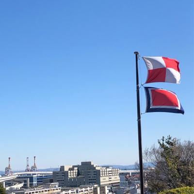映画「コクリコ坂から」の主人公は毎朝この旗を掲げる、 「安全な航行を祈る」