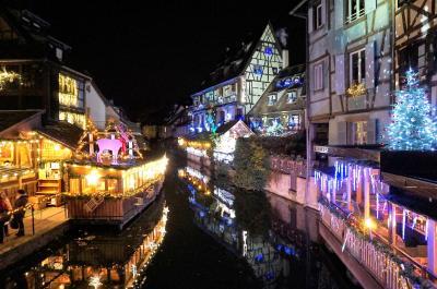 カゼニモマケズ、コルマールそぞろ歩き☆イルミネーションマジックに包まれる夜 クリスマス市巡りの旅7