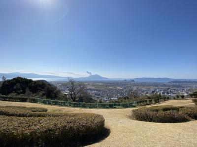 鹿児島県霧島市国分の「城山公園」に歩いて登ってみた