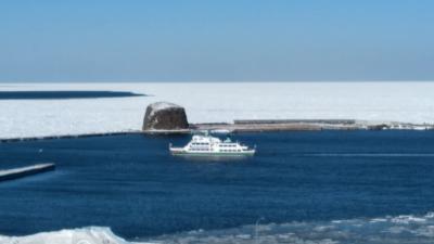 令和2年網走流氷接岸初日とニュースが流れました♪
