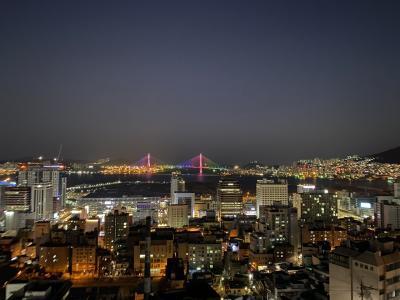 釜山 イバクキルの夜景に癒されて