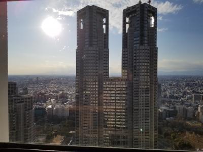 京王プラザホテル新宿。プレミアグラン宿泊