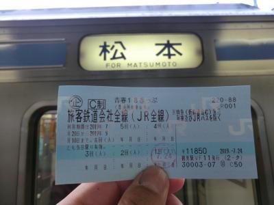 青春18きっぷ:乗鞍岳&奥飛騨温泉執筆逗留記・その1. 普通列車とバスを乗り継いで乗鞍岳へ。