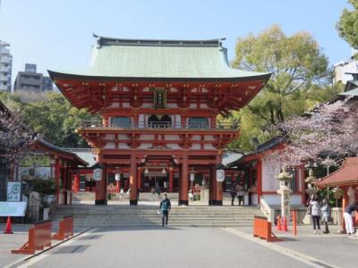 春の神戸と有馬温泉(8)三宮・生田神社の桜&イスズベーカリー