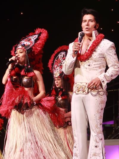 Oahu-45〔-Rock a Hula-ロッカフラ〕ショー5/5 ☆華麗な舞踏-フラ共演-幕おりて