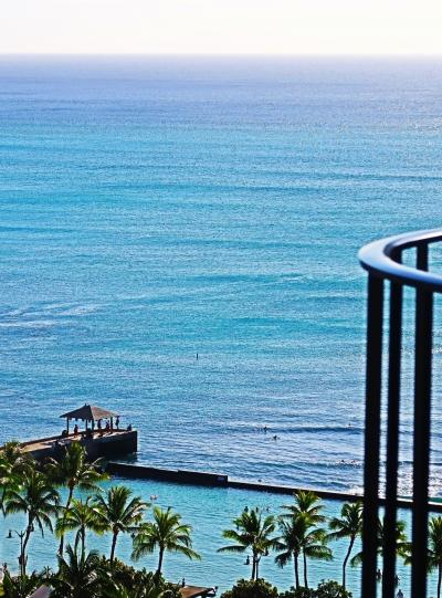 Oahu-55 帰国/朝  ダニエル・K・イノウエ国際空港へ ☆ワイキキビーチ眺望-見納め