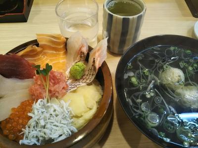 那珂湊おさかな市場で海鮮丼&パワースポット泉神社