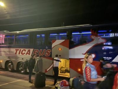 サンサルバドルからマナグアへの移動 tica bus