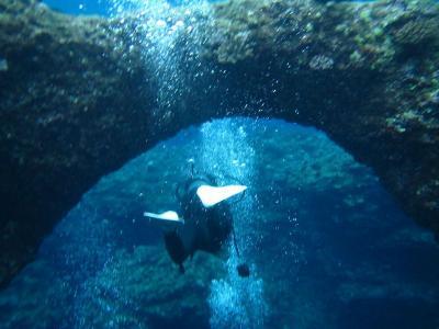 宮古島と沖縄本島(9)宮古島・伊良部島ダイビング。宮古ブルーの海に抱かれて