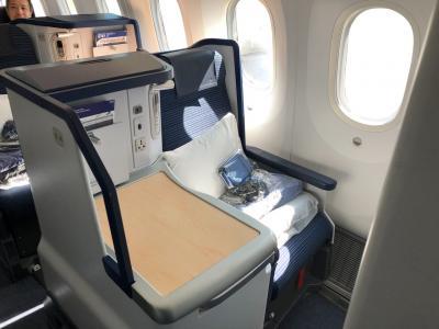 ANA209便デュッセルドルフ行きビジネスクラス