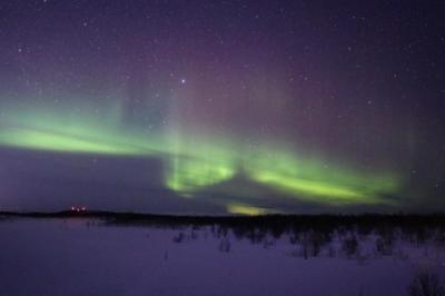 北極圏最大の都市、ロシア・ムルマンスクでオーロラ鑑賞