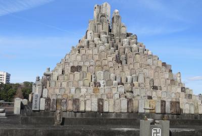 2020新春、続々・平手政秀所縁の地(2/4):2月19日(2):平和公園(2):政秀寺霊地碑、墓碑のピラミッド