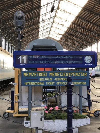 ブダペストからプラハへ電車で移動④