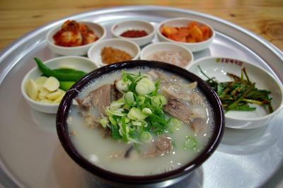 韓国で食べました